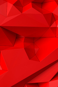 Bright Red Shapes Abstract 5k