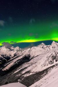 1080x1920 British Columbia Aurora 8k