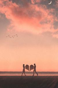 1080x2280 Broken Love 4k