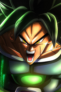 1242x2688 Broly Dragon Ball