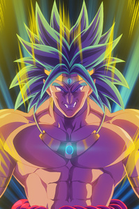 1280x2120 Broly Dragon Ball Z Anime Artwork
