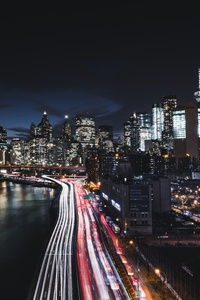 360x640 Brooklyn Bridge Cityscape Long Exposure Road Manhattan 8k