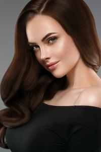 Brown Hair Girl In Black Dress 4k