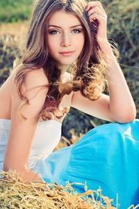 Brown Hair Girl Outdoors