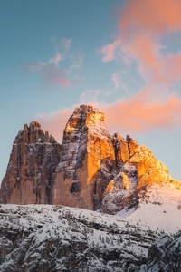 480x854 Brown Rocky Mountains Under Blue Sky 8k