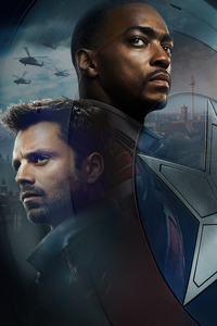 2160x3840 Bucky Barnes And Sam Wilson In The Falcon And The Winter Solidermo