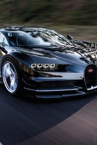 320x568 Bugatti Chiron Black
