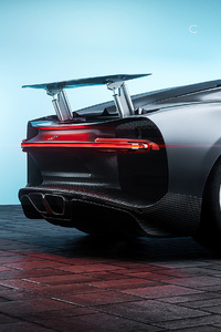 480x800 Bugatti Chiron Cgi Art 4k