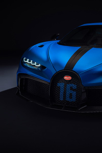 Bugatti Chiron Pur Sport 2020 Up View