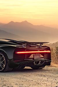 Bugatti Chiron Rear 4k