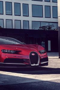 480x854 Bugatti Chiron Red