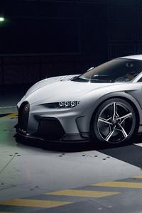 640x960 Bugatti Chiron Super Sport Side View 5k