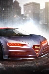 320x568 Bugatti Chiron Superman