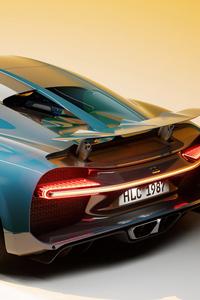 1440x2960 Bugatti Chiron UE4 Cgi 4k