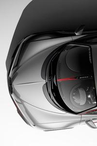 640x1136 Bugatti Chiron UE4 View From Top 4k