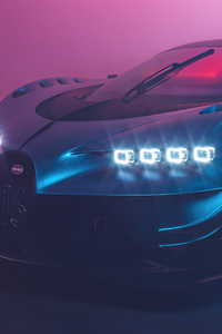 1440x2560 Bugatti Chiron Vision GT 5k