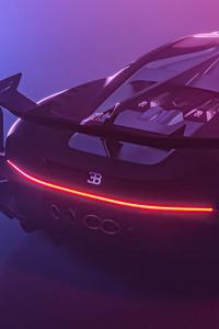 1440x2560 Bugatti Chiron Vision GT Rear 5k