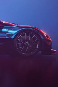 Bugatti Chiron Vision GT Side View 5k
