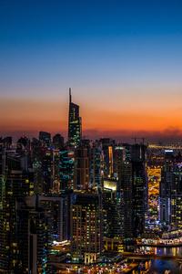 Buildings City Lights Skycrapper Outdoors 5k