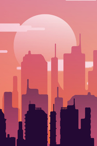 1440x2560 Buildings City Silhouette 10k