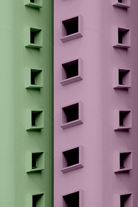 1440x2960 Buildings Colorful Minimal 5k