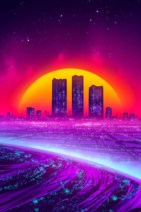 Buildings Fall Synthwave