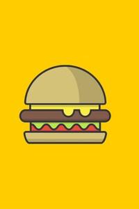 1125x2436 Burger Minimalism