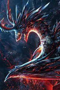 480x800 Burning Dragon 4k