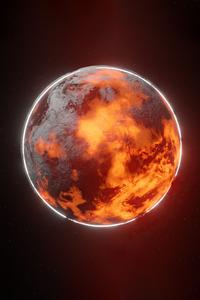 1080x2280 Burning Planet 4k