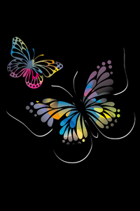 1080x2160 Butterflies Oled 5k