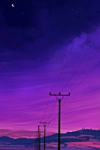 Cable Lines 4k