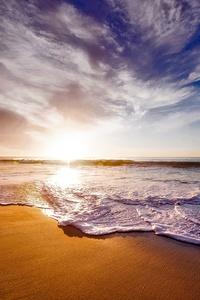 California Ocean Shore Dusk Sunset