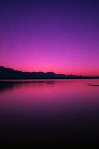 720x1280 Calm Water Body Pink Evening 4k