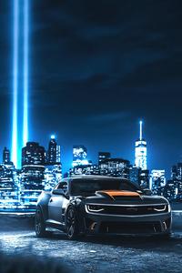 Camaro In Neon City 4k