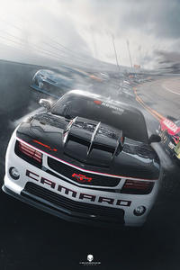 1280x2120 Camaro Track Racing