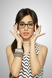 1440x2960 Camila Cabello Wearing Glasses