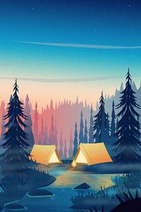 Camping Minimalism 4k