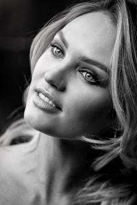 Candice Swanepol Monochrome Portrait