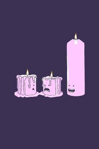 1125x2436 Candles Minimalism