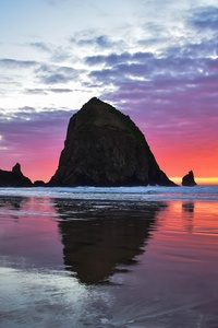 640x960 Cannon Beach Sunset 5k