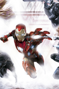 Capitan America Civil War Team Iron Man Artwork 5k