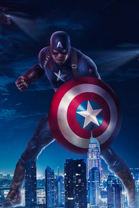 1080x2160 Captain America 2019art