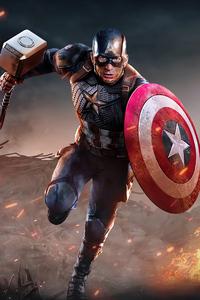 640x1136 Captain America 2020 4k