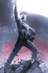 320x480 Captain America 2020 4k Art