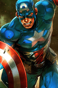 1125x2436 Captain America 2020 4k Artwork