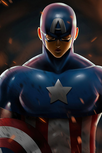 320x568 Captain America 2020 Art 4k