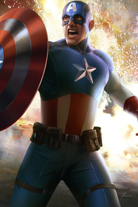 320x568 Captain America 2020 Art New