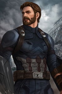 1125x2436 Captain America 2020 Artwork 4k