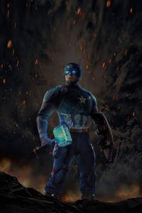 1125x2436 Captain America 2020 Hammer Art