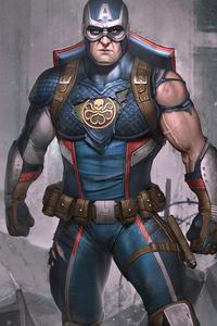 480x800 Captain America 4k Artwork